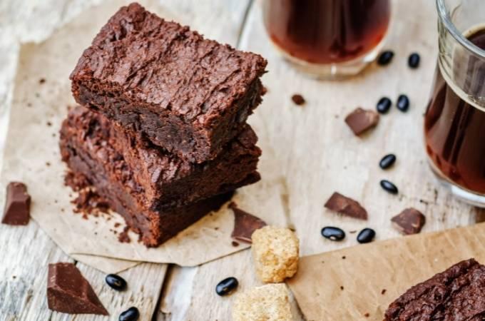 Decadent black beans brownie