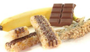 Chocolate and banana bars