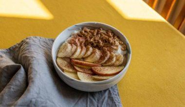 Coconut and walnut oatmeal