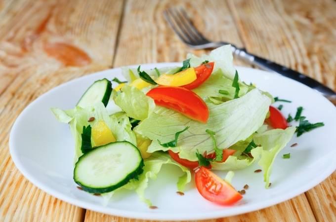 Crispy vegetables salad