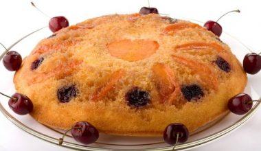 Gluten free rhubarb upside down cake