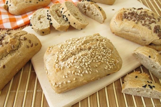 Mini gluten free breads