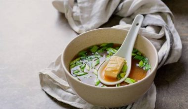 Soup of the week - Green tea Miso soup